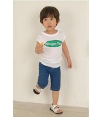 เสื้อแขนสั้นสีขาว ลาย haaggen (Korea)  size. 7**สินค้าหมด**