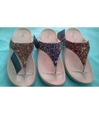 รองเท้า ฟิฟฟลอฟ Fitflop รุ่น Rock Chic Limited เกล็ดเพชรเกล็ด 3 สี ขนาด 36-40