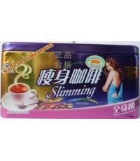 กาแฟลดน้ำหนัก กาแฟสี่เหลี่ยมสีน้ำเงินรุ่นกล่องดินสอ  สูตรกาแฟบราซิลผสมชาเขียว