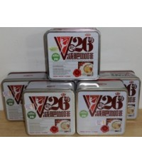 กาแฟV26 Fashion  Coffee กล่องเหล็กสี่เหลี่ยมสีขาว จัดเซ็ท 6 กระป๋อง ราคาประหยัด 1,170 บาท