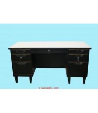โต๊ะทำงานเหล็ก สีดำ