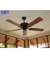 พัดลมเพดาน ใบพัดไม้สักแท้