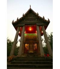 การติดตั้งโคมไฟ ปี 57วัดลินถิ่นพัฒนาราม  กาญจนบุรี