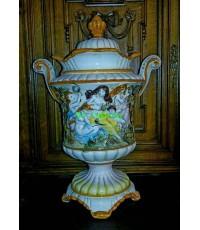 Porcelain  ลายคราม  Italian master Capodimonte.
