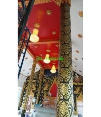 การติดตั้งโคมไฟในวิหารหลวงพ่อเพชร  วัดทรงกระเทียม จ.สุพรรณบุรี    ปี 57