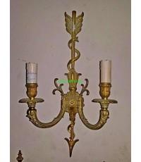 โคมไฟผนัง ทองสำริด คู่ งานสเปน