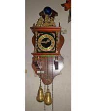 นาฬิกาแขวนผนังโบราณ ฮอลแลนด์ จิ๋ว  1 วัน