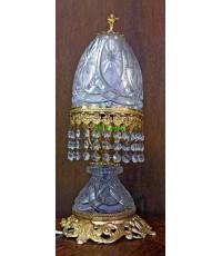 โคมไฟตั้งโต๊ะคริสตัลโบราณ   งาน อิตาลี