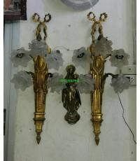โคมไฟผนังทองเหลืองทองสำริด  งานเยอรมัน