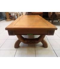โต๊ะกลาง งานไม้โอ๊ค แกะสลัก งานสเปน