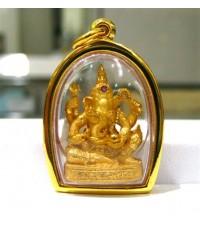 พระพิฆเนศทองคำ ฝังทับทิมแดง