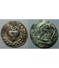 เหรียญทวารวดี รูปหอย (หนาเล็ก)
