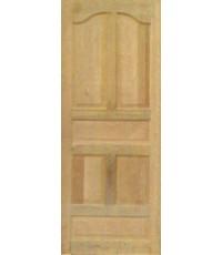 ประตูไม้สักบานเดี่ยว 5 เต้าปีกนก  (D 021)