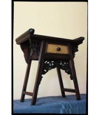โต๊ะจีนจิ๋ว (ไม้เนื้อแข็ง) สานใบกระจูด_02