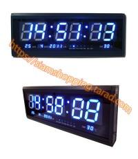 นาฬิกาแขวนผนัง LED (ไฟสีน้ำเงิน) รุ่นหนา