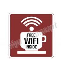 ป้าย wifi ร้านกาแฟ รหัส : OF-083