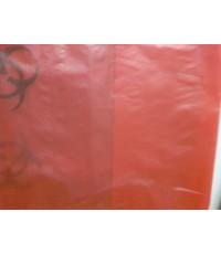 ถุงพลาสติก ถุงขยะ HDPE สีแดง 20 x 22 นิ้ว ไม่พิมพ์ จำนวน 210 กก.