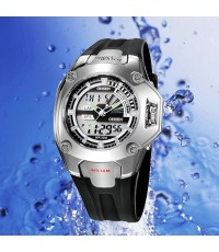 OHSEN AD0908-3 : Dual System with LCD Screen Sports Watch
