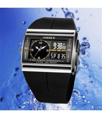 OHSEN – AD0518-1 : Dual System Alarm / Chronograph Sports Watch