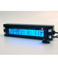 EC30 Car Clock With In/Out Thermometer  Battery Monitor