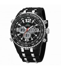 WEIDE – WH1107-1: Jumbo Size Dial Dual System Alarm Chronogragh Sport Watch