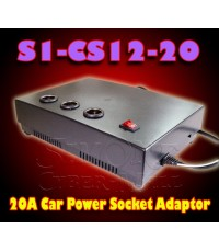 S1-CS12-20 :  AC100-220V-To-DC12V/20A Car Power Socket Adaptor
