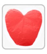 โคมลอยรูปหัวใจ โคมลอยหัวใจ