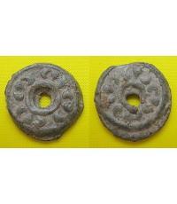 เหรียญเงินโบราณยุคฟูนัน  เนื้อชินเงิน