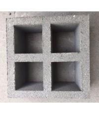 บล็อคช่องลมสี่เหลี่ยมจัตุรัสสี่ช่อง 20 x 20 x 9 cm.