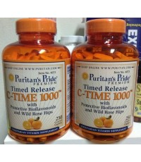 Puritan\'s PrideVitamin C-1000 mg with Rose Hips Timed Release 1000 mg.ขนาด 250 Caplets