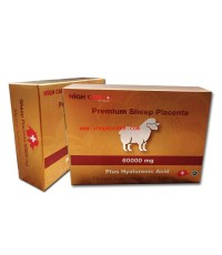 รกแกะ 60000 mg.High Care Premium Sheep Placenta 60000 Plus Hyaluronic Acid บรรจุ 120 เม็ด