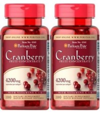 Puritan Cranberry Fruit Concentrate with C E 4200 mg. ขนาด 100 Softgels