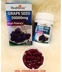 Healthway Grapeseed 50,000 mg สินค้าระดับ พรีเมี่ยม โดสสูงสุด เพื่อผิวขาวใส จากออสเตรเลีย