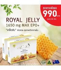 ( 60 เม็ด) Angel's Secret Maxi royal jelly 1,650mg.610-HDA  นมผึ้งสูตรพิเศษ