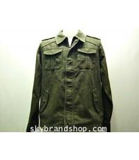 Jacket Levi's Japan Original รุ่น TYPE 1 JEANS NEW สีเขียวขี้ม้า **ของหมด**
