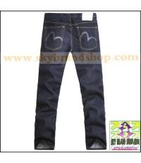 กางเกงยีนส์ Evisu Genes Original New 2011 M 3D Skinny Denim Deep Blue ไซต์ 36