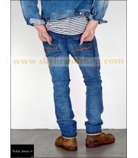 กางเกงยีนส์ Nudie Jeans Original THIN FINN ORG. KLEIN USED TFOKU ไซต์ 25 ถึง 38 คลิก