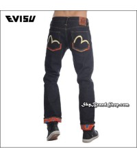 กางเกงยีนส์ Evisu Genes New Original Tannin jeans Straight Leg Jeans Denim 14Oz. Red Ear 28-40 คลิก.