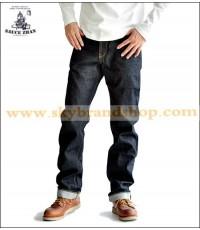 กางเกงยีนส์ Sauce Zhan 316XX Jeans Straight Leg Selvedge Denim Original Red Ear Size 28-38 คลิก.