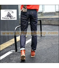 กางเกงยีนส์ Sauce Zhan 315XX Tannin Red Jeans Slim Small Selvedge Denim Original Size 28-38 คลิก