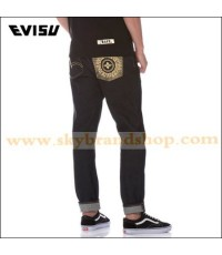 กางเกงยีนส์ EVISUKURO Original with Gold Seagull and Kamon Embroider Raw Denim Jeans Size 28-40 คลิก