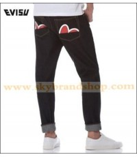 กางเกงยีนส์ Evisu Genes Original Carrot-fit Seagul Raw Selvedge Jeans Denim Red Ear Size 28-40 คลิก.
