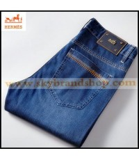 กางเกงยีนส์ Hermes Paris New Business Casual Men\'s Jeans Straight Type Figure ไซต์ 29 ถึง 42 คลิก..
