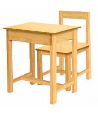 ชุดโต๊ะนักเรียนไม้ยางพารา ระดับประถม