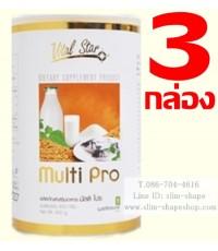 Multi Pro มัลติโปร โปรตีนเพิ่มกล้ามเนื้อ 3กระปุกๆ 1450 บาท เป็นเงิน 4350 บ.เผาผลาญลดน้ำหนักได้ดีขึ้น