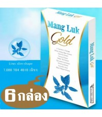 Mang Luk Power Slim GOLD แมงลักโกลด์โฉมใหม่สูตรOriginal Plus+ได้ทั้งผอมผิว 6กล่องๆละ 160 เป็น 960 บ.