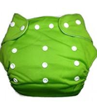 สีเขียว - กางเกงผ้าอ้อมซักได้ ปรับขนาดได้ S,M,L,XL แถมฟรีผ้าซับนาโนหนา 5 ชั้น จำนวน 2 ชิ้น