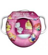 Disney Soft Baby potty seat (Pincess) แผ่นเบาะรองนั่งชักโครกลายการ์ตูน