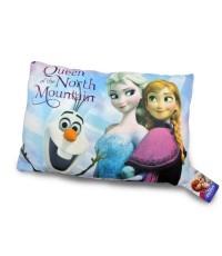 Baby mamy หมอนสกรีน ลาย Elsa,Anna,Snow 15 นิ้ว - สีฟ้า