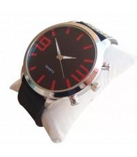 QUARTZ นาฬิกาข้อมือ นาฬิกาข้อมือแฟชั่น นาฬิกาผู้ชาย ผู้หญิง วัยรุ่น ทันสมัย ราคาถูก [Red]
